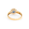 Blue Sapphire Diamond Princess Ring Vintage 18k Yellow Gold Estate Fine Jewelry