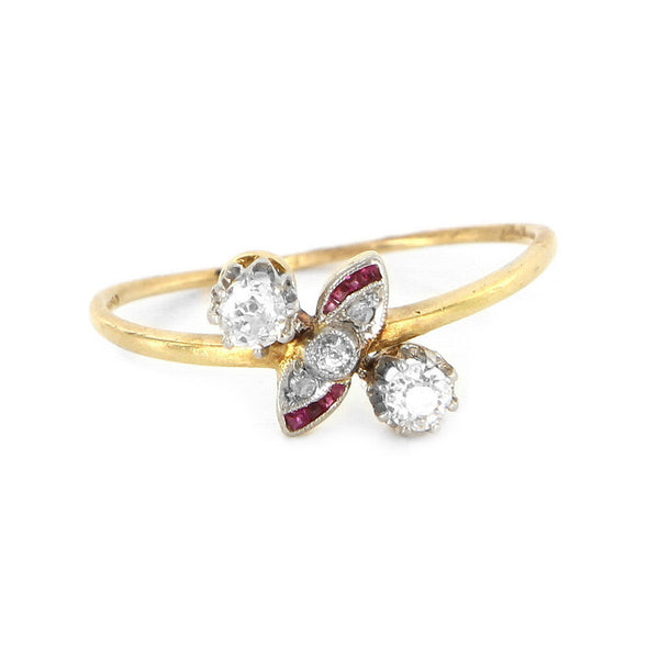 Art Deco Diamond Ruby Ring
