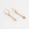 Vintage Diamond Arrow Earrings 14k Yellow Gold 1.5