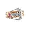 Art Deco Retro Ruby Ring