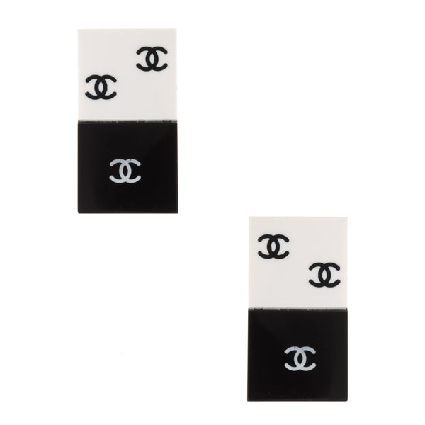 Chanel Vintage Domino Quad Earrings
