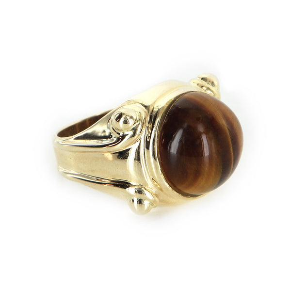 Tigers Eye Cocktail Ring