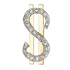 Diamond Dollar Sign Pendant Charm Vintage 14k Yellow Gold Currency Jewelry
