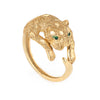 Leopard Cat Ring Vintage 14k Yellow Gold Estate Fine Sz 6 Animal Jewelry
