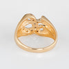 Letter L Diamond Signet Ring Vintage 14k Yellow Gold Initial Estate Jewelry Sz 9