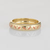 Hidalgo Enamel Band Sz 6.5 Pink Creme Pattern 18k Yellow Gold Estate Jewelry