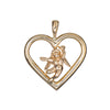 Cupid Angel Heart Pendant Charm Estate 14k Yellow Gold Love Vintage Jewelry