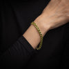 Peridot Line Bracelet Estate Tennis 14k Yellow Gold 7.5 Inch Vintage Jewelry