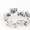 Heart Star Diamond Ring Sz 5.5 Eternity Band Estate 18k White Gold Fine Jewelry
