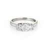 1ct Three Diamond Trilogy Ring Estate 14k Gold Platinum Anniversary Jewelry 5.75
