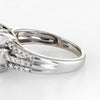 Diamond Cluster Ring Square Estate 10k White Gold Fine Jewelry Illusion Set Sz 6