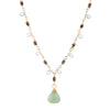 Gemstone Drop Necklace Vintage 22k Yellow Gold