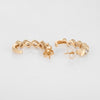Diamond Half Hoop Earrings 14k Yellow Gold 3/4
