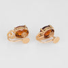 Maderia Citrine Stud Earrings Vintage 14k Yellow Gold Jewelry Screw Backings