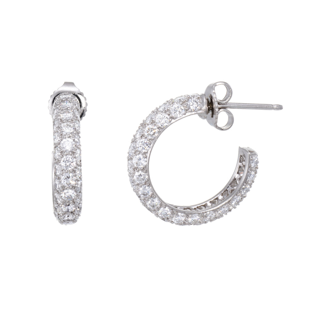 Tiffany & Co Etoile Pave Diamond Earrings