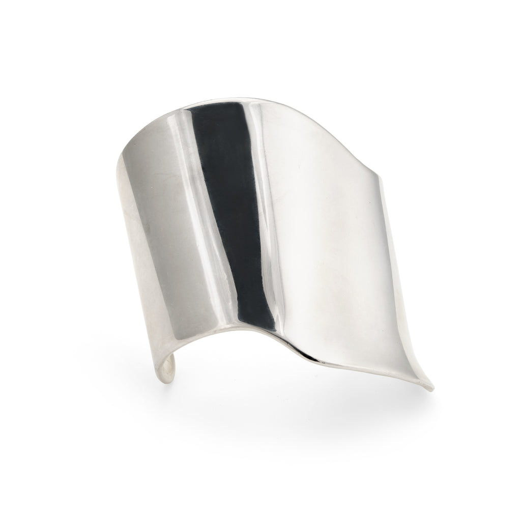 Barry Kieselstein Cord Cuff Bracelet Sterling Silver Sculptural Large Estate