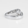 Diamond Crossover Ring Estate 18k White Gold Vintage