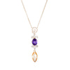 Elegant Amethyst Aquamarine Drop Necklace