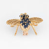 Cartier Bee Brooch Vintage 18k Yellow Gold Diamond Sapphire Estate Fine Jewelry