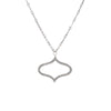 Estate Diamond Drop Necklace 18k White Gold Vintage Fine Jewelry 18