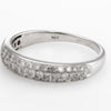Estate Pave Diamond Band 14k White Gold 0.60ct Wedding Stacking Ring Sz 6