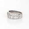 Vintage Diamond Wedding Band 14k White Gold 1.60ctw Estate Bridal Jewelry 7.25