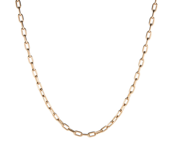 Cartier Spartacus 18k Rose Gold Link Necklace Estate Designer Jewelry 18.5 inch
