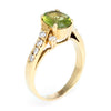 Peridot Diamond Vintage Cocktail Ring