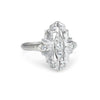 Antique Art Deco Diamond 14k White Gold Ring