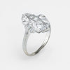 Antique Deco Diamond Cocktail Ring Vintage 18k White Gold
