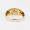 Diamond Enamel Band Ring Vintage 18k Gold