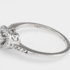 Diamond Heart Stacking Ring Estate 10k White Gold