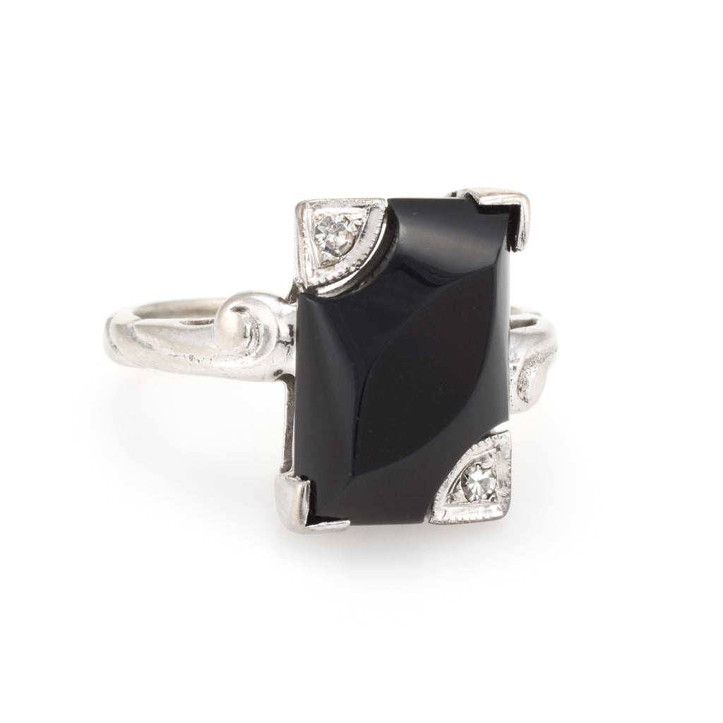 Vintage Onyx Cocktail Ring