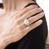 Cultured South Sea Pearl Vintage Diamond Cocktail Ring