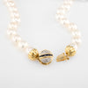 36.5 Inch Cultured Pearl Necklace Vintage 14k Gold