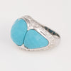 Turquoise Diamond Dome Cocktail Ring
