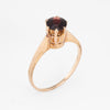 Garnet Solitaire Engagement Ring