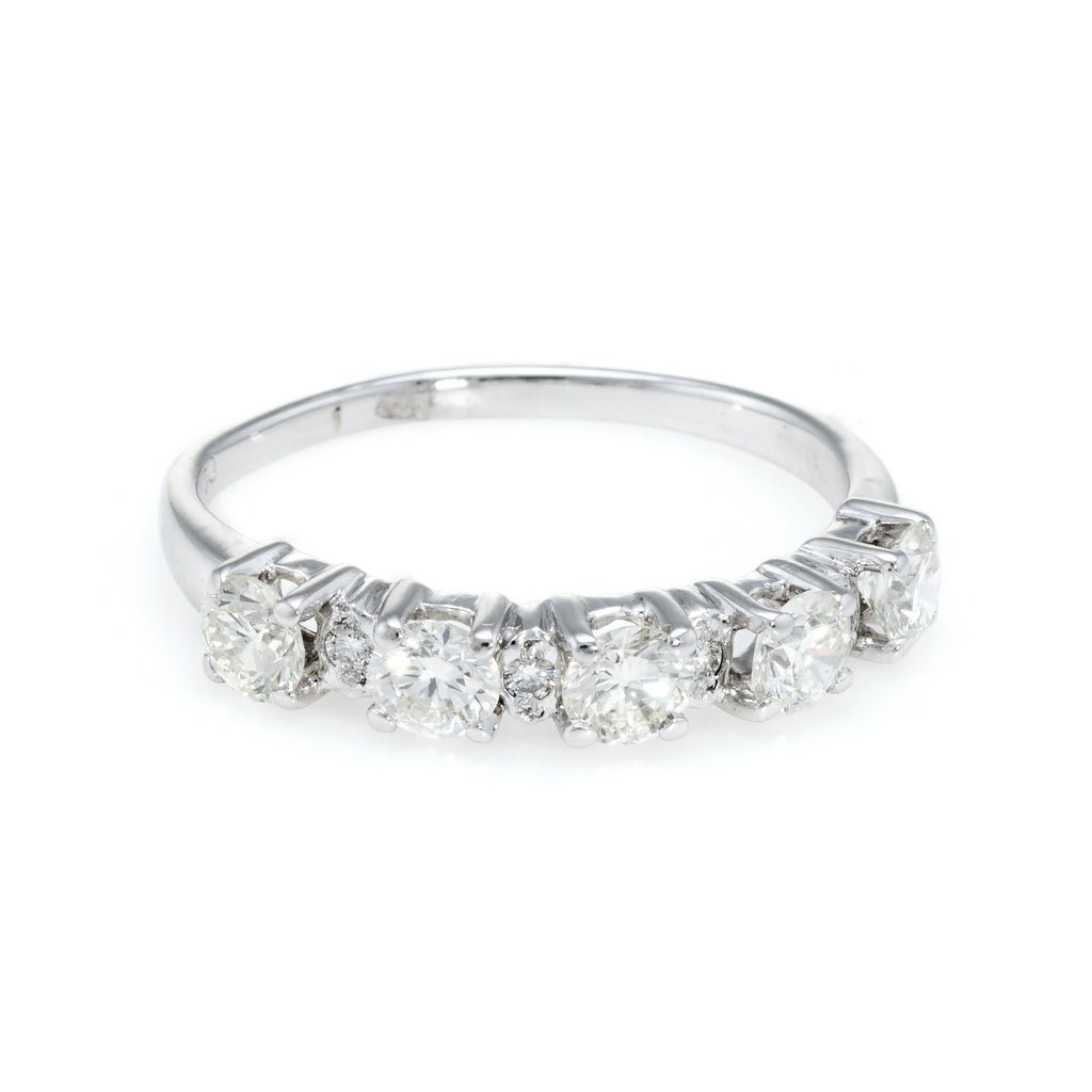 Vintage 5 Stone Diamond Anniversary Ring