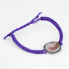 Kimberly McDonald Geode Diamond Bracelet Purple Macrame