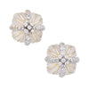 Vintage Fluted Rock Crystal Diamond Square Earrings