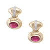 Pink Tourmaline Diamond Doorknocker Earrings