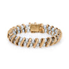 Lucien Piccard Cultured Pearl Bracelet Vintage 14k Yellow Gold Estate Jewelry