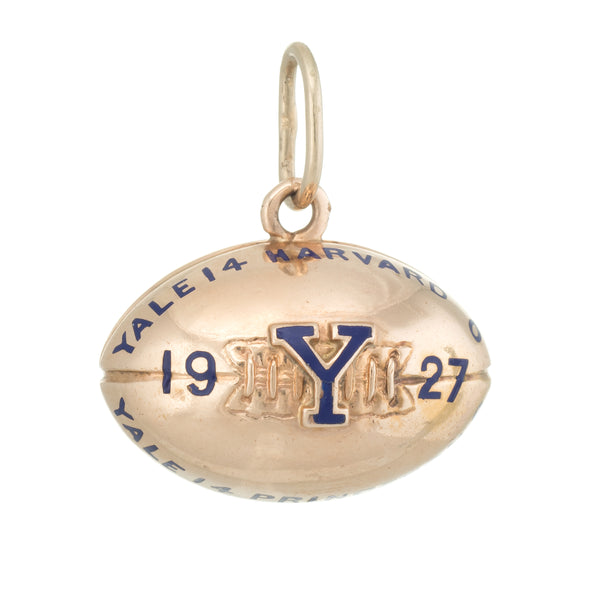 1927 Yale Harvard Princeton University Football Fob Vintage 14k Gold College Old