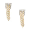 Buckle Diamond Drop Earrings Vintage 14k Yellow Gold Estate Fine Jewelry