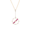 Art Deco Ruby Pearl Calibre Necklace