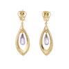 Amethyst Dangle Earrings Vintage 14k Yellow Gold Estate Fine Jewelry Pre Owned