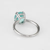GIA Certified Paraiba Tourmaline Diamond Ring Estate 14k White Gold