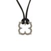 Cartier Hindu Diamond Necklace Estate 18k White Gold Black Silk Cord Jewelry