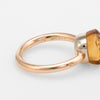Pomellato Nudo Citrine Quartz Ring 18k Rose Gold Estate Fine Jewelry Sz 7.25