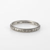 Antique Deco Wedding Band Ring Sz 7 Vintage 18k White Gold Fine Jewelry